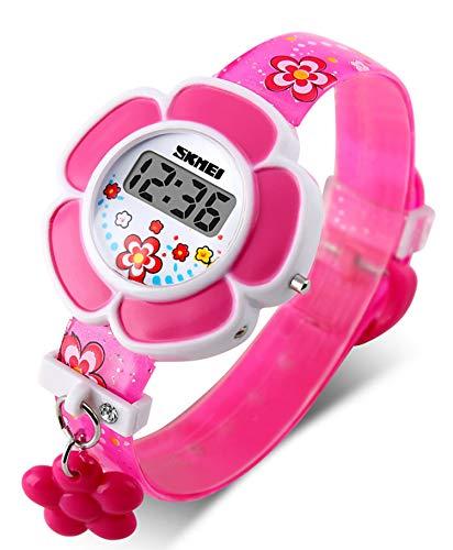 (Kids Watch Girls Flower Shape Watch GRyiyi Novelty Cartoon Digital Wrist Watch for Girls (Pink))