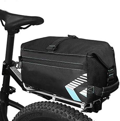6L自転車自転車パニエリアシートトランクバッグサイクリングキャリーショルダーバッグ大容量キャリングケースアウトドアスポーツ
