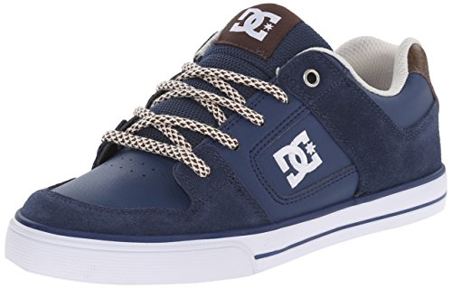 DC Shoes Boys Shoes Pure Se - Shoes - Boys 8-16 - US 6.5 - Blue Navy/Dk Chocolate US 6.5 / UK 5.5 / EU -