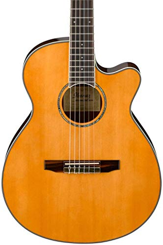 Ibanez AEG10NII Nylon String Cutaway Acoustic-Electric Guitar Tangerine (Renewed)