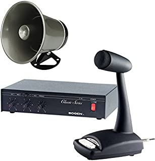 amazon com new valcom business warehouse industrial paging horn Valcom Paging Horn Wiring Diagram bogen 10 watt commercial paging system with amplifier mixer speaker and mic valcom paging horn wiring diagram