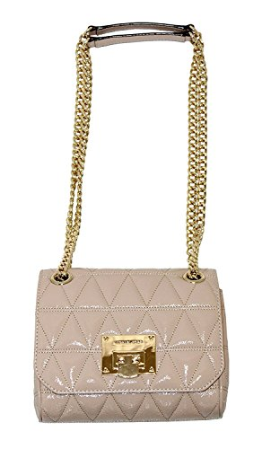 (MICHAEL Michael Kors VIVIANNE Small Women's Shoulder Flap Leather Handbag (Oyster))