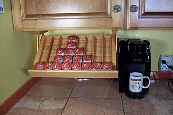 Ultimate Kitchen Storage Under Cabinet Mounted Coffee Pod