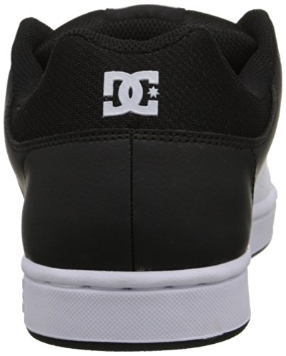 DC Men's Wage Skate Shoe, Black/White, 6.5 M US