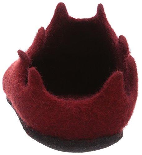 MagicFelt VE 721 Damen Flache Hausschuhe Rot (4823 rubin)