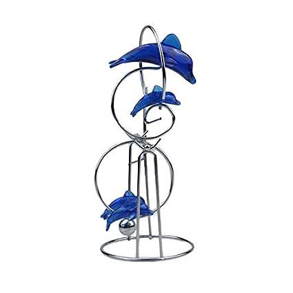 2031f9706f6 Vktech® Blu delfino ornamenti artigianato decorazioni a pendolo moto  perpetuo palla festival Gift  Amazon.it  Casa e cucina