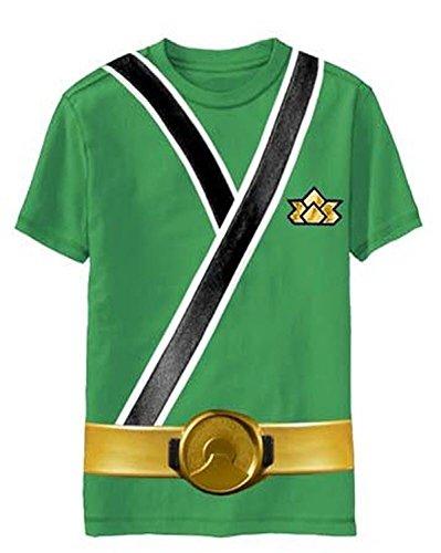 Power Rangers SAMURAI Ranger GREEN Uniform Monster Toddler T-shirt (Toddler Small 4T) -