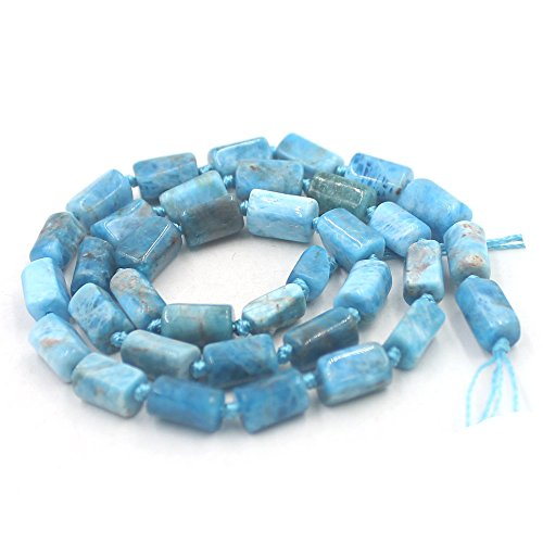 SR BGSJ Jewelry Making Natural 8x10mm Faceted Tube Crude Chips Gemstone Loose DIY Beads Knot Strand 15