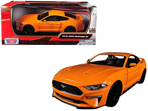 2018 Ford Mustang GT 5.0 Blue with Black Wheels 1/24 Diecast Model Car by - Motormax 79352