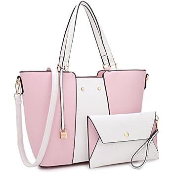 c29967770a9eba Fashion Tote Handbag for Women 2 PCs Hobo Wallet Wristlet Satchel Handbag  Shoulder Bags