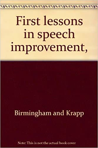 First lessons in speech improvement,