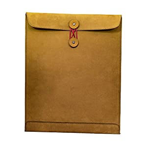 Hide & Drink, Leather Mailing Envelope Document Holder, Meetings Carrier, Office & Work Essentials Handmade, Includes 101 Year Warranty :: Old Tobacco