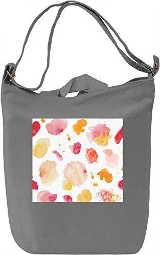 Watercolor Split Pattern Borsa Giornaliera Canvas Canvas Day Bag  100% Premium Cotton Canvas  DTG Printing 
