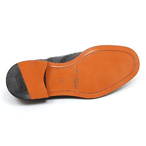 Shoe Grigio Scuro C7830 Santoni Grigio Scarpe Man Inglese Scarpa Scuro Uomo Ov07A