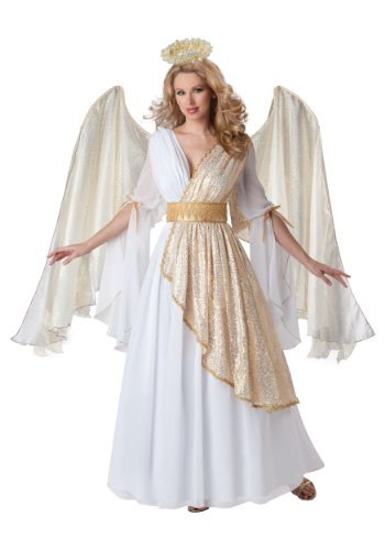 InCharacter Costumes Women's Heavenly Angel Costume, White/Gold, -