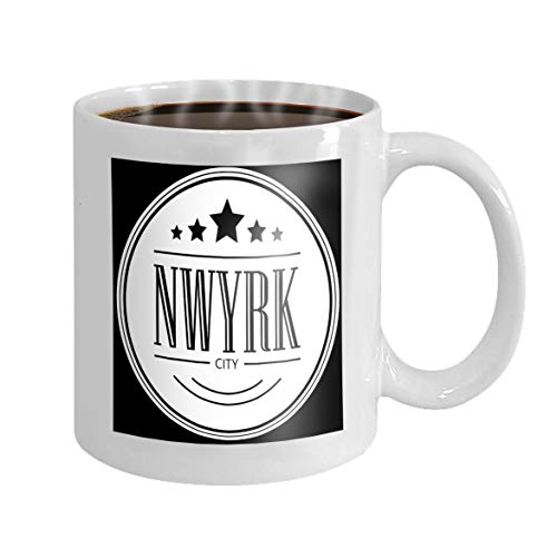(11 oz Coffee Mug new york city slogan printing graphic printed promotion sale template flyer banner poster other Novelty Ceramic Gifts Tea Cup)