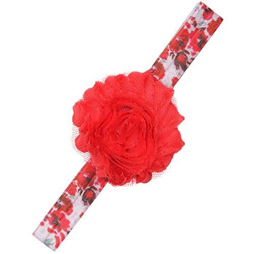 BANDED Baby No Slip Flower Bow Headband (Poppy Princess) (Halloween Hair Bows Pinterest)