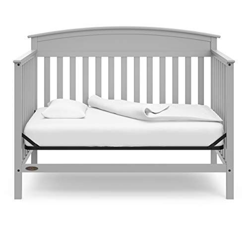 41SzZncyS9L - Graco Benton 4-in-1 Convertible Crib, Pebble Gray, Solid Pine And Wood Product Construction, Converts To Toddler Bed Or Day Bed (Mattress Not Included)