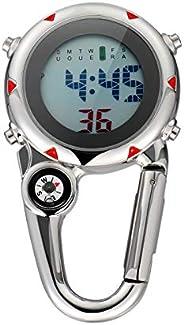BESPORTBLE Clip-On Watch Nurses Carabiner Backlight Pocket Fob Watch Mini Carabiner Watch Digital Pocket Watch