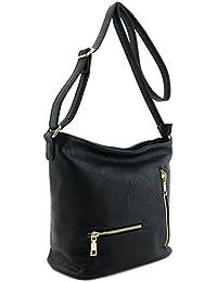 Double Zipper Pocket Messenger Bag