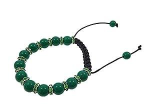 Cassanovum Green Aventurine Gemstone Shamballa Bracelet - Green Fertility Bracelet