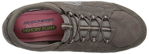 mujer Serene oscuro Gratis Skechers Para Simply topo Wide Gris xqfx61nXw