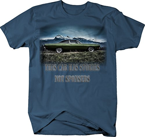 Roadrunner Car - OS Gear This Car has Stories Not Sponsors Plymouth Road Runner Mopar Tshirt - 2XL