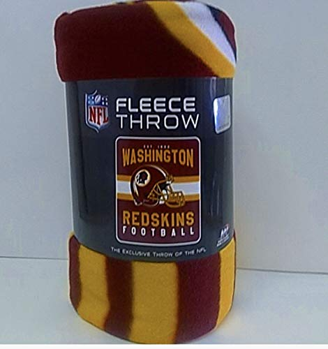 Exclusive Washington Redskins Fleece Throws 50in x 60in ()