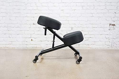 Sleekform Alpharetta Adjustable Kneeling Chair | Ergonomic Posture Correcting Knee Stool for Bad Back Support, Neck Pain Relief, Computer Desk | Orthopedic Comfortable Durable Mesh Cushions