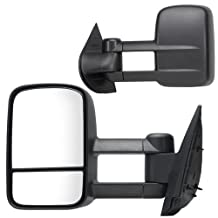Fit System 62077-78G Chevrolet/GMC Driver/Passenger Side Replacement Manual Foldaway Towing Mirror Set with Dual Glass