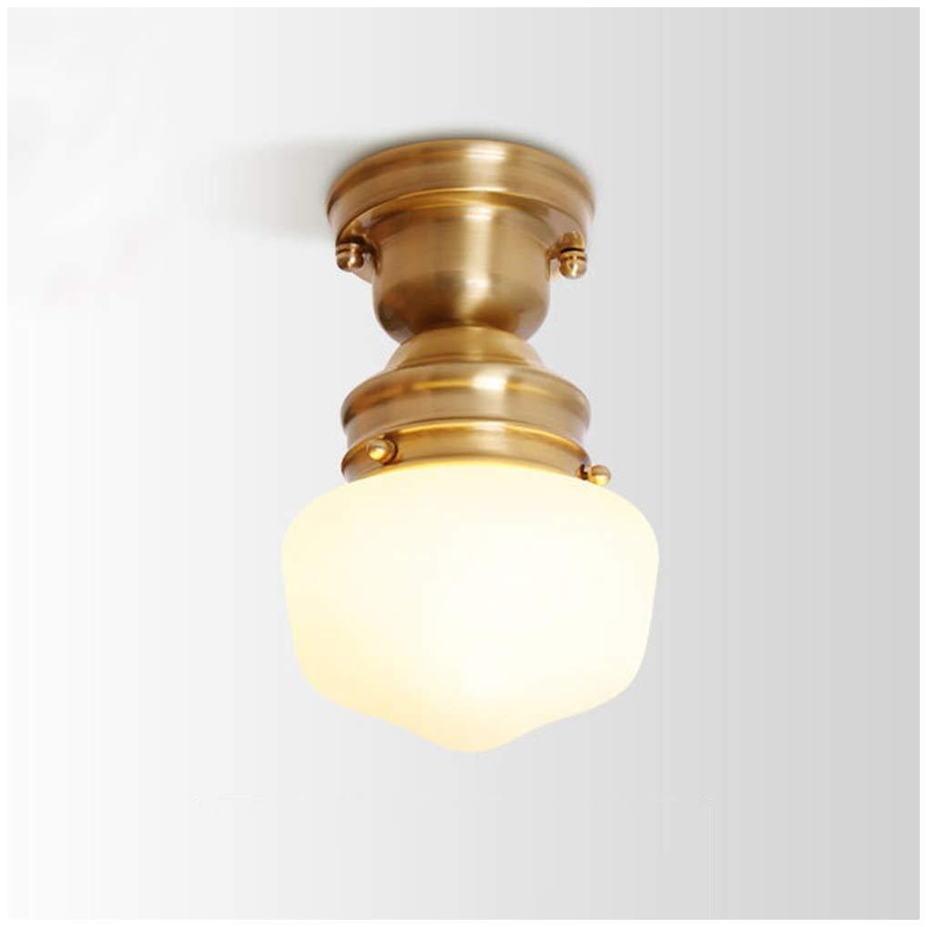 シャンデリアペンダントライトアメリカン銅器具寝室ホームぶら下げランプシーリングライト試着室クロークゴールド25センチ   B07TBL7BN5