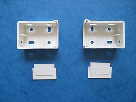 1 par de caja de persiana veneciana de soportes para caja de 39 mm x 30 mm Top: Amazon.es: Hogar