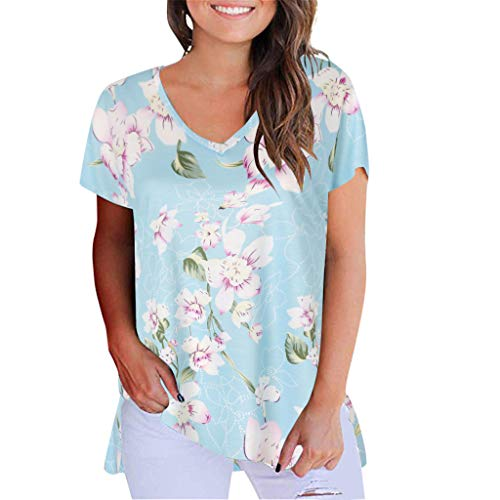 Corriee Women Casual Short Sleeve V Neck Floral