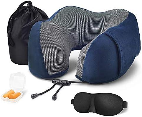 Amazon.com: Songtai Almohada de viaje de espuma ...