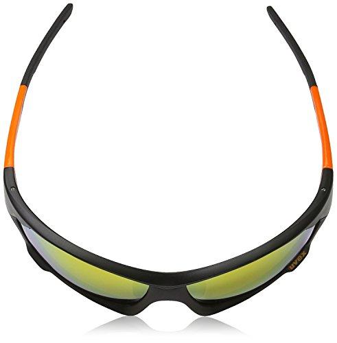 Uvex Sportstyle 702 Lunettes de sport pour adulte Taille unique Noir - Black Mat/Orange XOo8gsG1V
