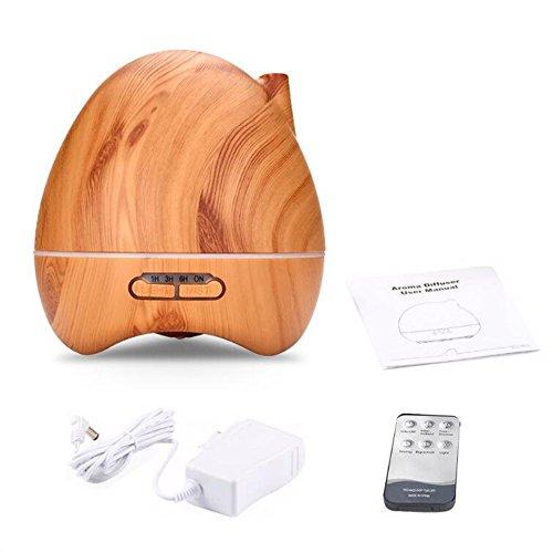 JIAYUE LY-015 300ml Ultrasonic Mute Humidifier Aromatherapy Diffuser LED Color Night Light No Water Auto Power Off Wood Grain Peach Heart Shape , Light wood grain by JIAYUE (Image #6)