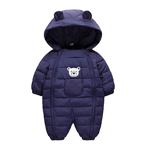 Simplee kids Onesie Baby Romper Peuter Warm Outwear Winterjas Dubbele Rits Baby Hooded Snowsuit voor 3-24 maanden