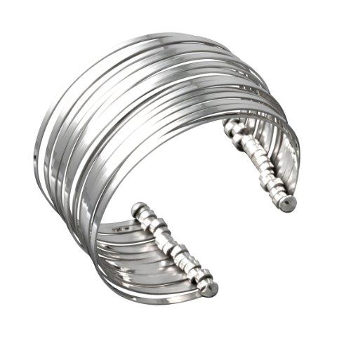 Canyon - B4367 - Bracelet Manchette Femme - Argent 925/1000 60 gr - 6.3 cm