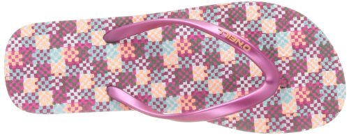 O'Neill Shoes Womens Moya Check Thong Sandals Pink Martini ofGBam