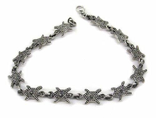 2-0472-D1 Marcasite Turtles Bracelet ()