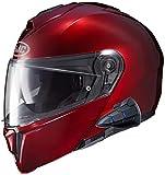 HJC i90 Modular Motorcycle Helmet With Sena 10B Bluetooth Headset Wine Large