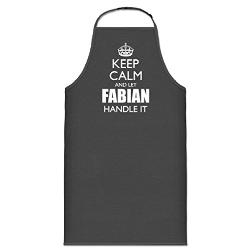 Shirtcity Keep Calm And Let FABIAN Handle It Cooking Apron One Size - Fabian Grey