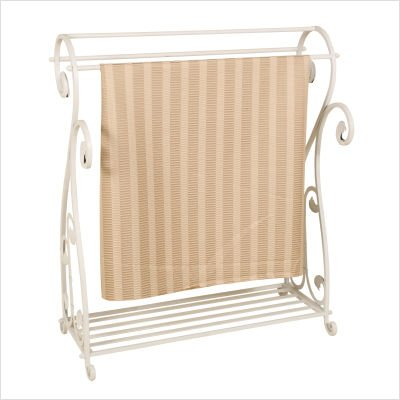 Passport Furniture Blanket/Quilt Rack in Whitewash by Passport Furniture