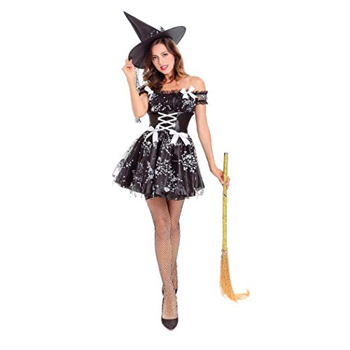 Con Zoylink Vestito Halloween Vestito Da Ballo Costume Vestito Longuette Cappello Cosplay Da r8vrqO