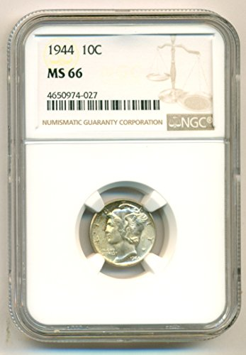 1944 Mercury Dime MS66 NGC