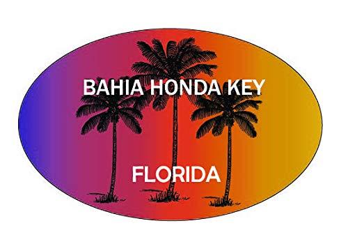 Bahia Honda Key Florida Trendy Souvenir Oval Decal