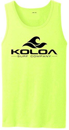 Koloa Classic Wave Logo Tank Top-Neonyellow/b-S