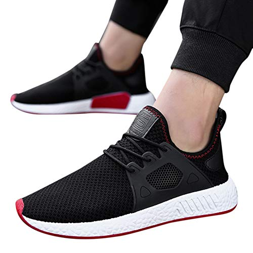Flying Woven Cross Straps Solid Color Sneakers Men's Fashion Canvas Shallow Flat and Pointed Toe Fitness Shoes Black