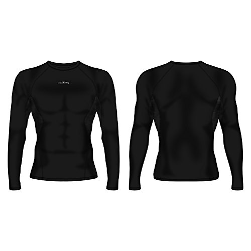 COOLOMG Men's Long Sleeve Shirt Skin Fit Cool Dry Compression Top Baselayer – DiZiSports Store
