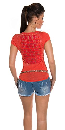 Fashion By Miss Fusion - Camisas - Cuello redondo - para mujer Coral